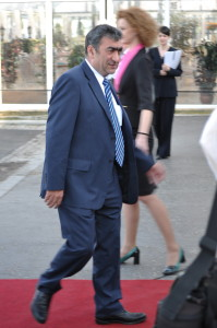 The Chargé d'Affaires a.i Mr. Ghassan Abdelkhalek arriving to the opening ceremony of the event - April 2013